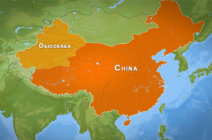 Oeigoeren Map Oost-Turkestan