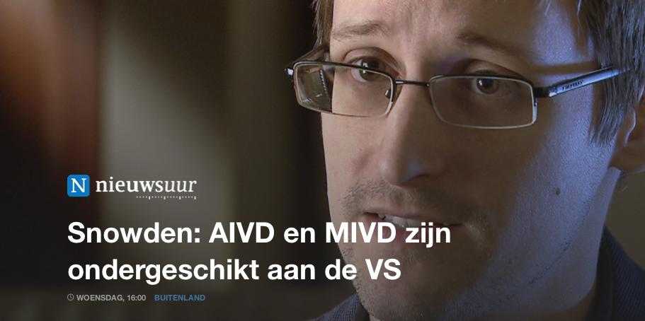 AIVD en MIVD zijn ondergeschikt aan de VS
