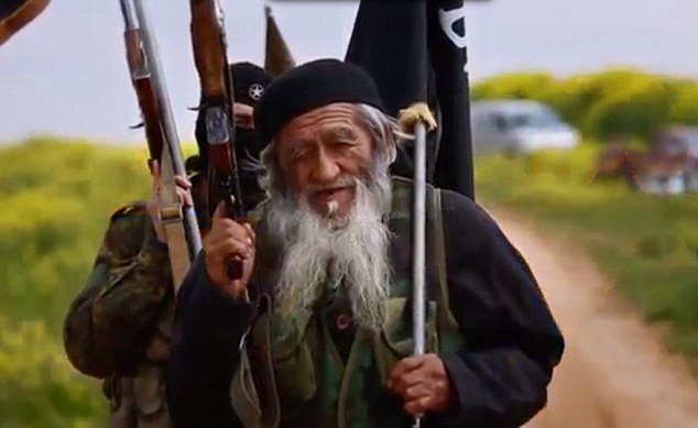 Is this the oldest jihadi in ISIS? Elderly man flees China with his family to fight alongside terror group in Syria