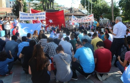 Ülkü Ocaklarından Sincan Uygur Özerk Bölgesi'ndeki Uygulamalara Tepki