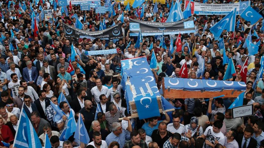 Hundreds march in Istanbul to protest against China's treatment of Uighur minority