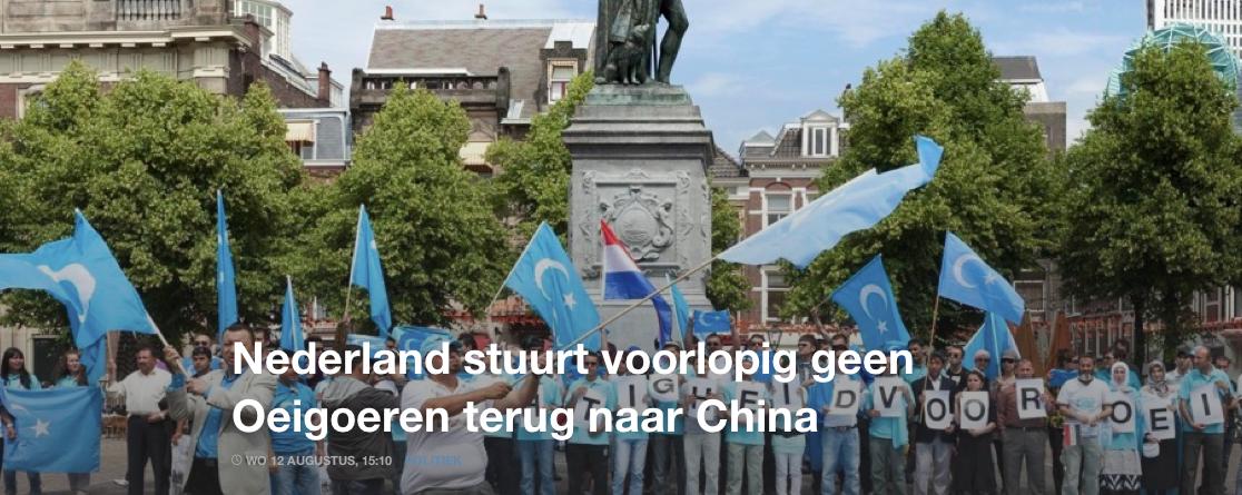 Nederland stuurt voorlopig geen Oeigoeren terug naar China