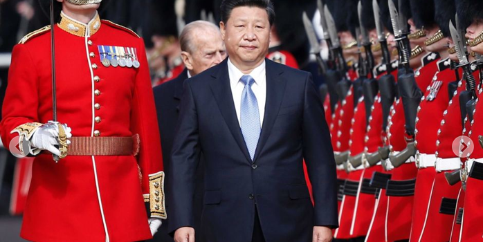 China's president Xi Jinping arrives in Britain for first state visit set to begin 'golden era