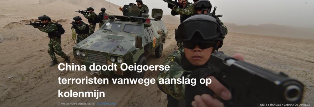 China doodt Oeigoerse terroristen vanwege aanslag op kolenmijn