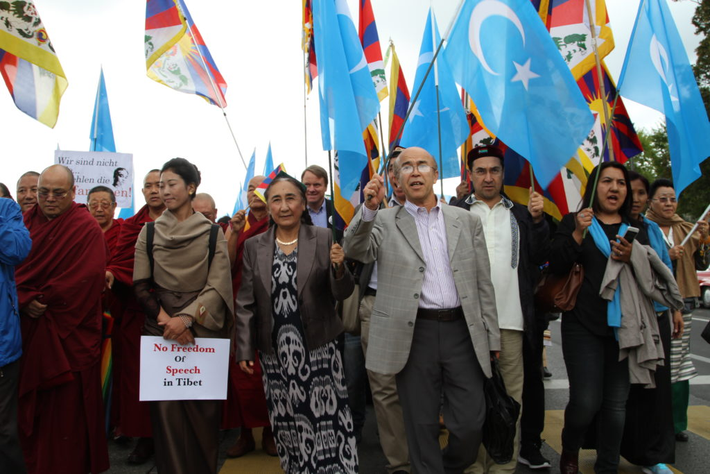 UYGHUR AND TIBETAN COMMUNITIES HOLD JOINT DEMONSTRATION FOR FREEDOM OF RELIGION IN TIBET AND EAST TURKESTAN