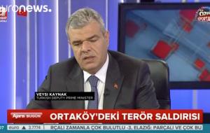Başbakan Yardımcısı Veysi Kaynak, İstanbul Ortaköy'deki terör saldırısının failine ilişkin yaptığı 'terörist muhtemelen bir Uygur' açıkladi
