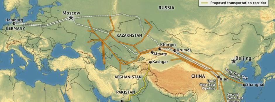 В 2017 году отправятся 400 транзитных поездов из Синьцзяна в Европу
