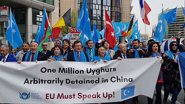 Thousands March in Brussels to Protest Mass Detentions of Uyghurs