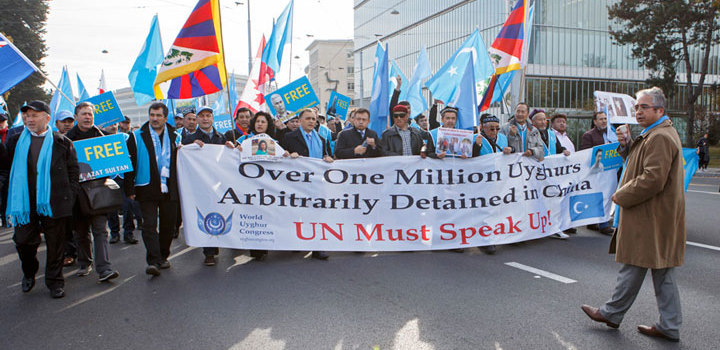 China Under Fire at UN Rights Review For Uyghur Re-Education Camps uyghur-protest