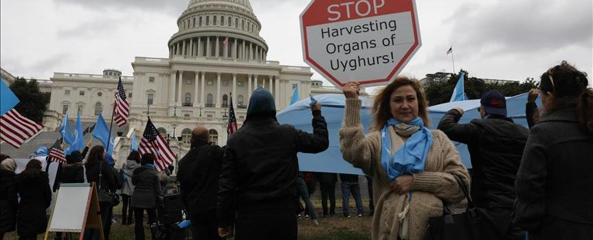 US Hundreds march in solidarity for Uyghurs