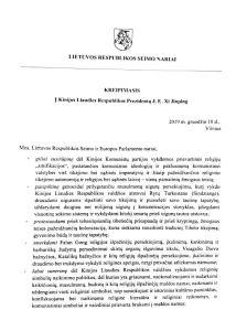 Members of Lithuanian Parliament to Xi Jinping Stop Persecuting Uyghurs, Tibetans, The Church of Almighty God, Falun Gong EU Russia China