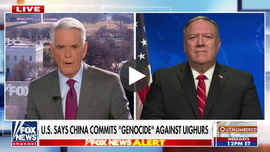 Pompeo designates China's treatment of Uighurs an 'act of genocide'